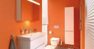 Sightseeing im Badezimmer: Neue Badmöbel Metropolitain passend zur Badkollektion Metropole von VitrA Bad