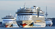 AIDA Schiffsparade in Kiel: AIDAaura, AIDAvita und AIDAluna gemeinsam in Kiel (FOTO)