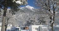 Bei Schluga in Kärnten: Wintercamping mit Wellness