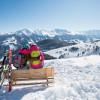 Bilderbuchwinter im goldenen Tal der Alpen