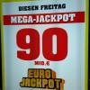 Mega-Jackpot von 90 Millionen Euro wartet  Gleich 15 Großgewinne bei der heutigen Ziehung (FOTO)