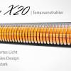 Neuer Elektro Heizstrahler VASNER SlimLine X20 » Ultra-schlank, 85% weniger Licht, 2000 Watt, Fernbedienung