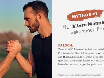 Astellas setzt auf Hellblau / Mit Mythen aufräumen, Ängste nehmen: Aufmerksamkeitskampagne zum Thema Prostatakrebs geht in die nächste Runde (FOTO)