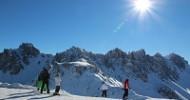Skifahren mit kleinem Fußabdruck in der Axamer Lizum