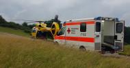 """Westpfalz: """"Christoph 66"""" fliegt 1000. Einsatz / Patient nach Traktorunfall mit ADAC Rettungshubschrauber ins Westpfalzklinikum transportiert / ADAC Luftrettung seit September 2019 in Eßweiler (FOTO)"""