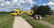 """""""Christoph 19"""" fliegt 40.000. Rettungseinsatz / Gemeinnützige ADAC Luftrettung seit 1983 in Uelzen stationiert / """"Jubiläumseinsatz"""" an der Elbe nach Zwischenfall mit Kuh / Jährlich rund 1400 Notfälle (FOTO)"""