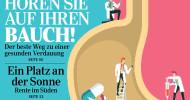 """Gesunde Verdauung: Was bei Bauchbeschwerden hilft / Magazin Reader""""s Digest zeigt in seiner August-Ausgabe, wie man die häufigsten Beschwerden einschätzt, lindert und ihnen vorbeugt (FOTO)"""