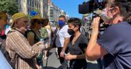"""dunja hayali"" im ZDFüber Coronamaßnahmen und -proteste (FOTO)"