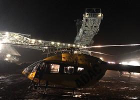 """""""Christoph Westfalen"""" fliegt Notfalleinsätze auch bei Nacht / Probebetrieb mit Nachtsichtbrillen erfolgreich abgeschlossen / Greven wird vierte ADAC Luftrettungsstation mit Nachtsicht-Technologie (FOTO)"""