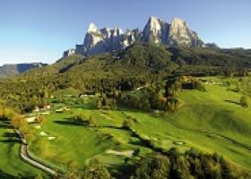 Abschlagen im Herzen der Dolomiten