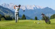 Abschlagen in Tirols zweitgrößter Golfregion