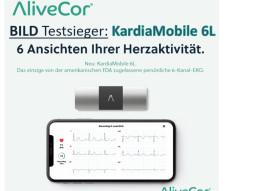 """BILD-Testsieger 2021 der """"mobilen EKG-Geräte"""": Das KardiaMobile 6L von AliveCor"""