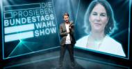 """Politik zur Prime Time auf ProSieben: Annalena Baerbock trifft in """"Die ProSieben-Bundestagswahl-Show"""" am Mittwoch auf Louis Klamroth (FOTO)"""