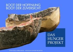 Kunstausstellung: Das Boot der Hoffnung, das Boot der Zuversicht und das Hunger Projekt begegnen sich