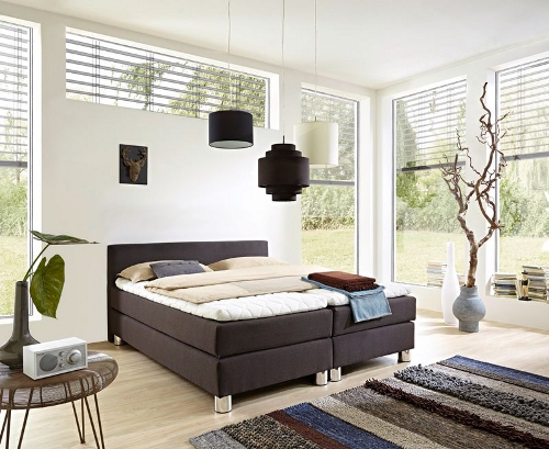 boxspringbett rockstar von welcon jetzt mit kopfteil f r schr ge kaufen gateo. Black Bedroom Furniture Sets. Home Design Ideas