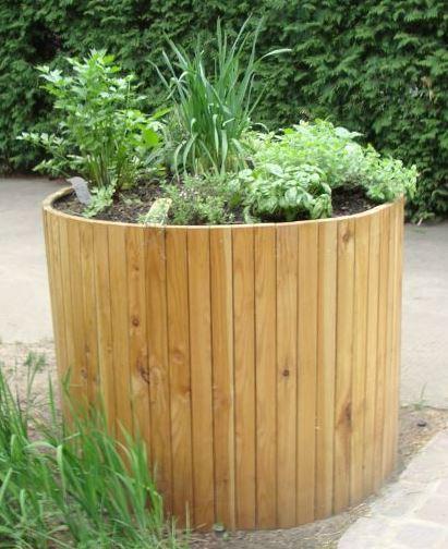 Gartenmobel Holz Metall Gebraucht : Rundes Hochbeet von hochbeet24de