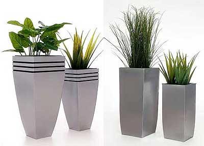 Moderne Pflanzkübel neue pflanzkübel aus zink silberne eleganz robust und wetterfest