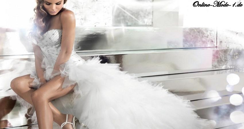 Ein Brautkleid mit Schleppe lässt jede Frau zur Königin werden ...